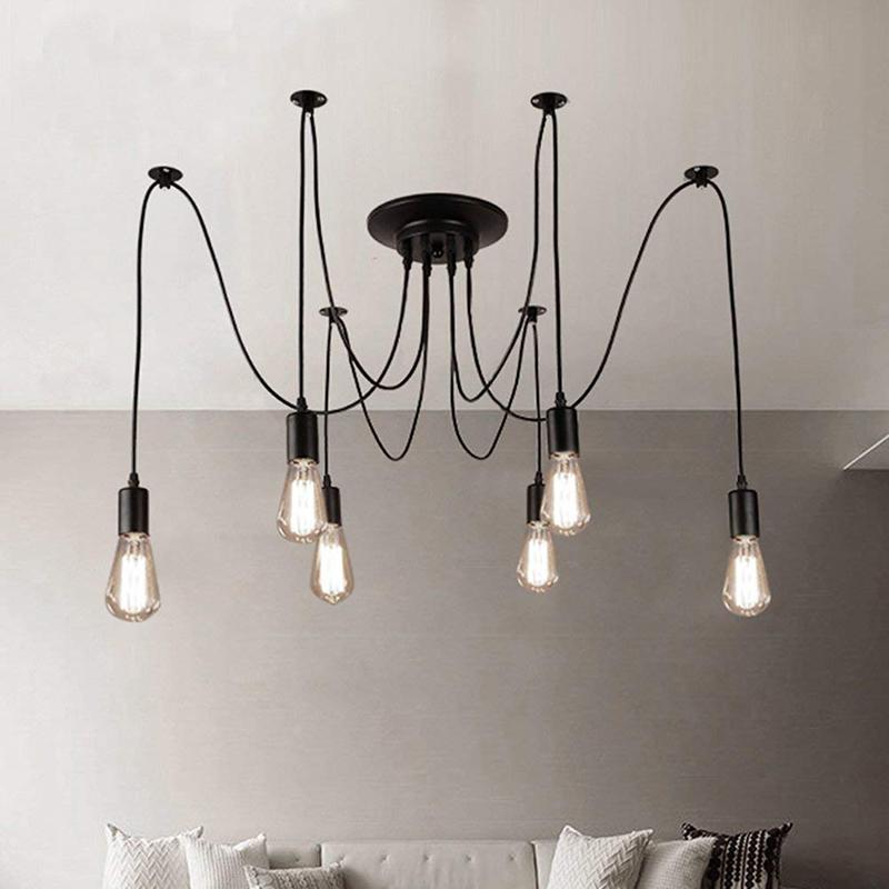 E27 6 ceiling chandelier lamp