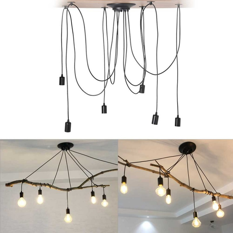 E27 6 ceiling chandelier lamp holder household chandelier shop decorative lamp hotel hall lamp