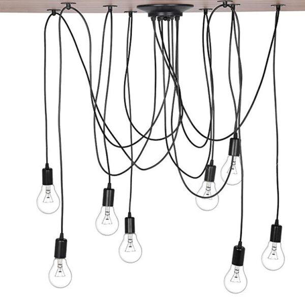 E27 8 heads suspension wire lamp holder