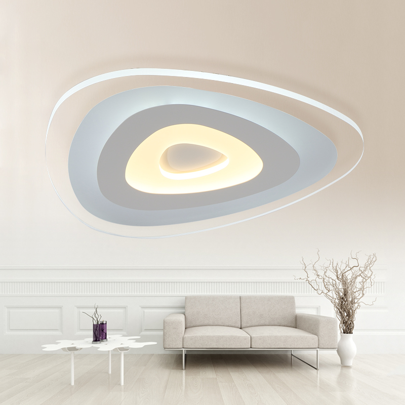 Shaped acrylic LED ceiling light home living room bedroom study restaurant lights office commercial ceiling lamps D63 H4cm
