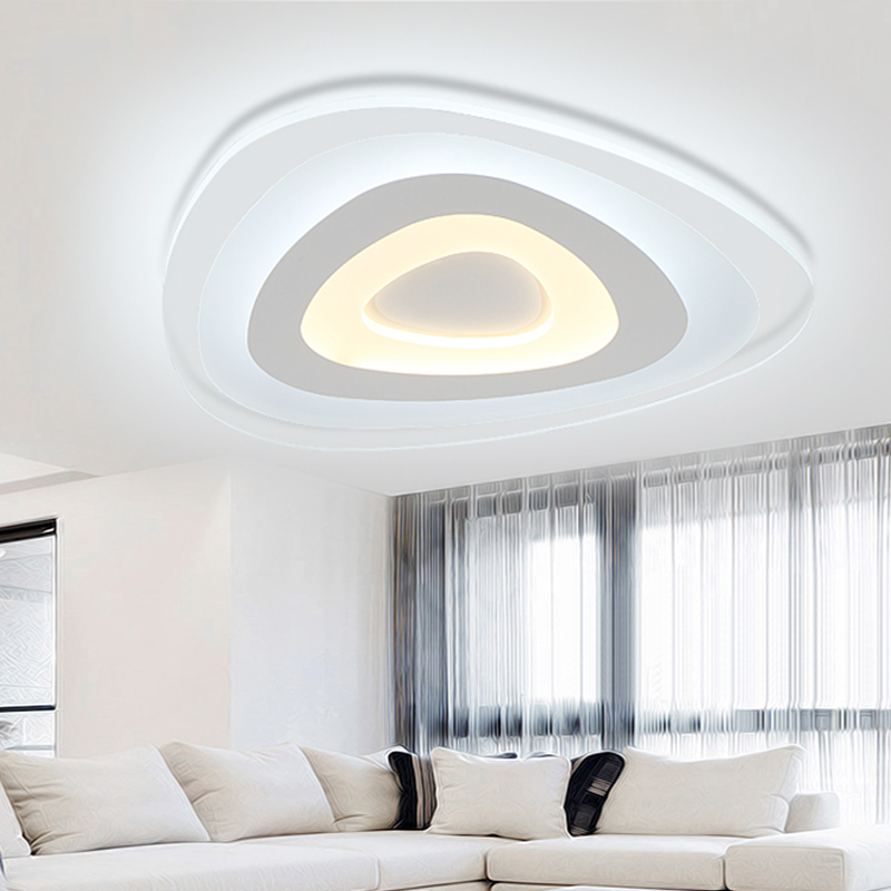 Shaped acrylic LED ceiling light home living room bedroom study restaurant lights office commercial ceiling lamps D43 H4cm