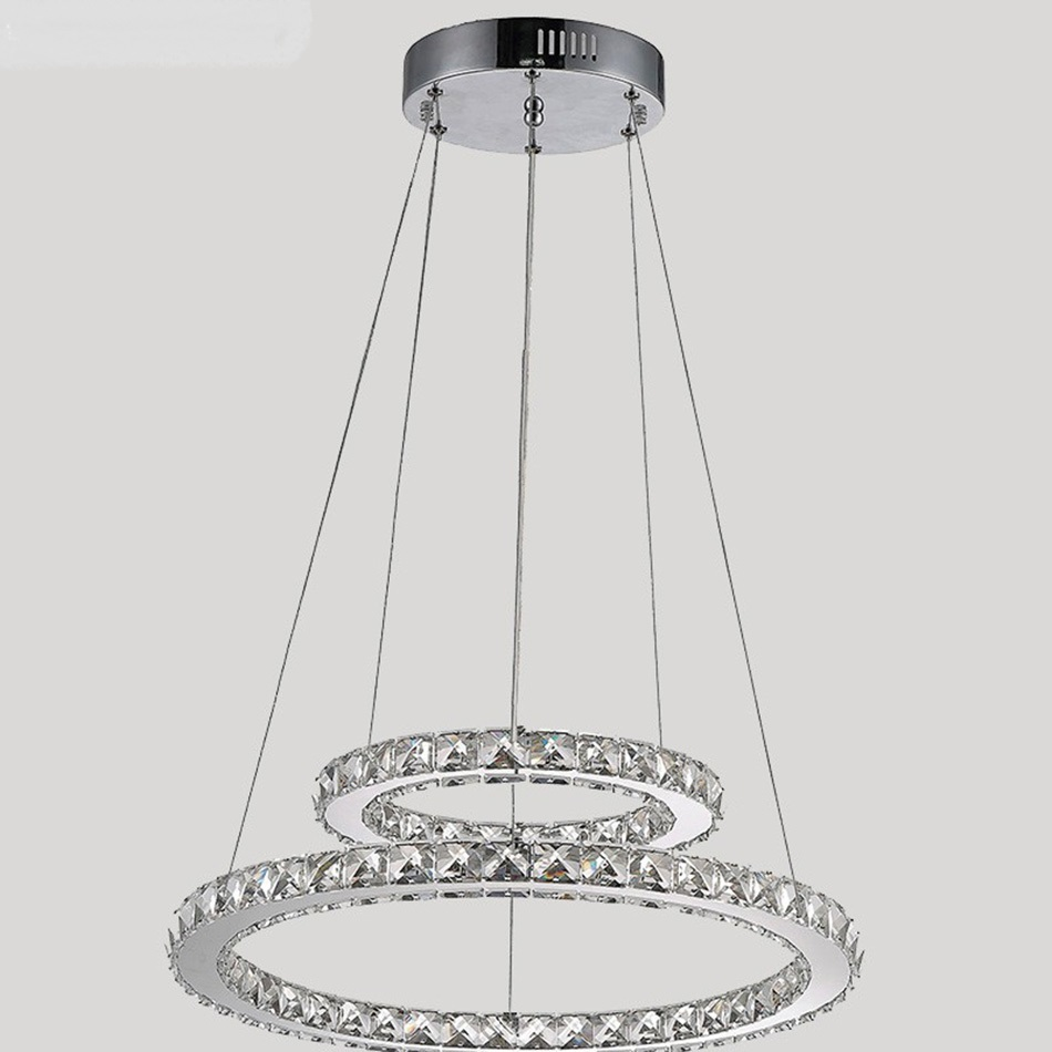 Crystal chandelier 2 rings