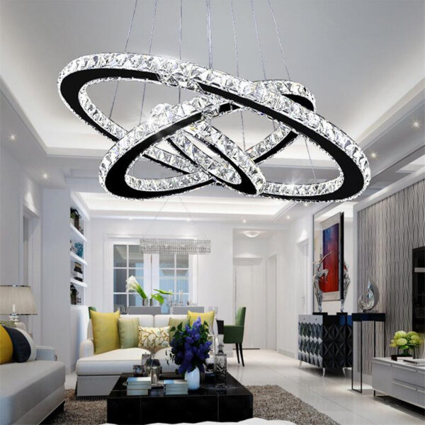 Crystal chandelier 3 rings