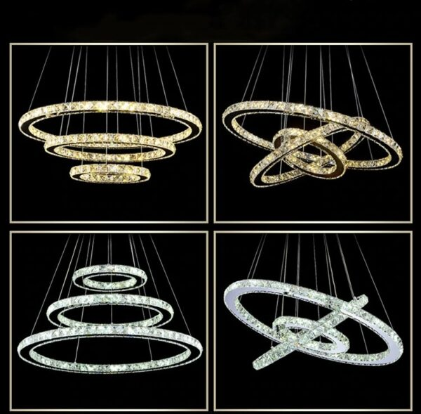 Crystal lamp 3 rings