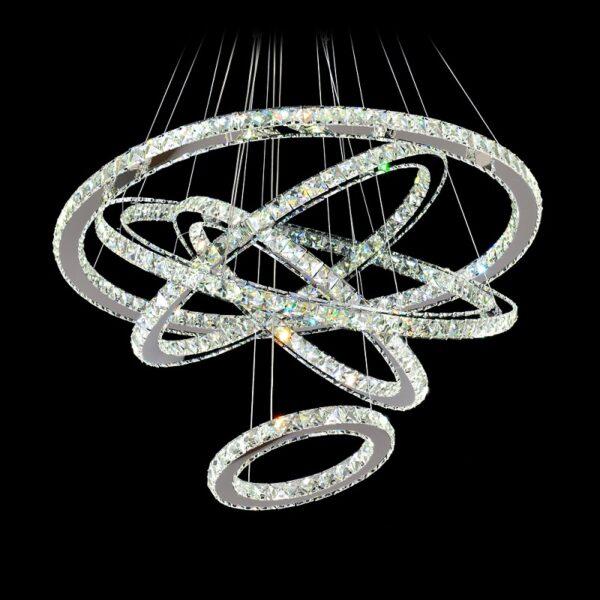 Crystal chandelier 5 rings