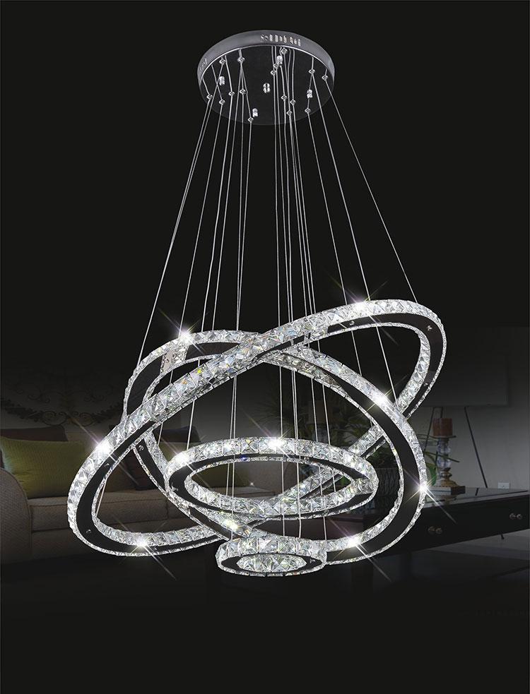Crystal chandelier 4 rings