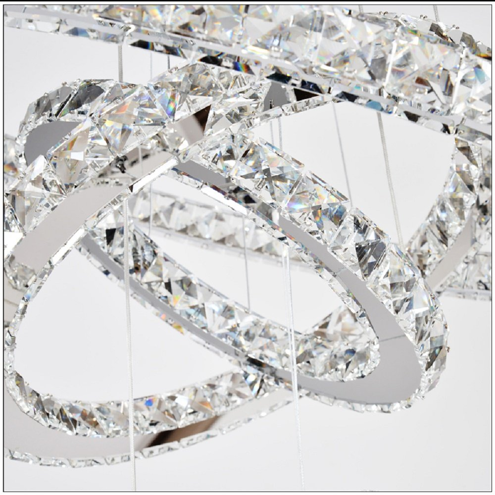 Crystal chandelier 3 rings