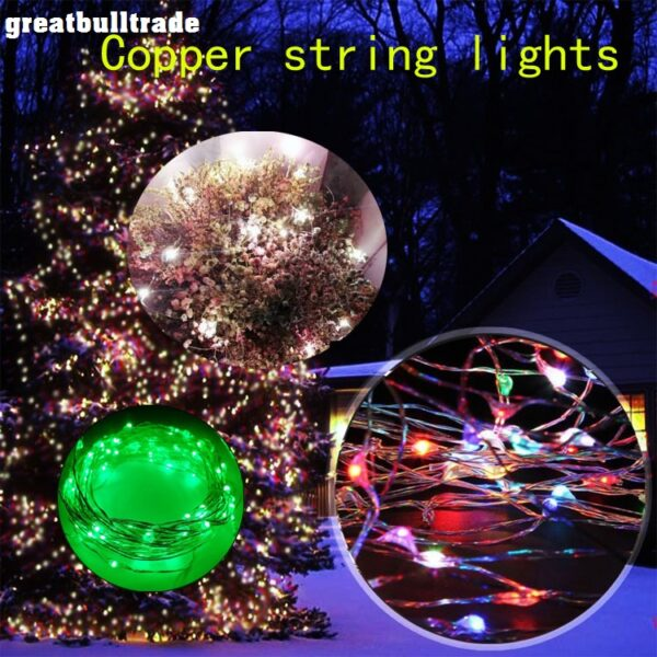 LED copper wire string color flashing lights