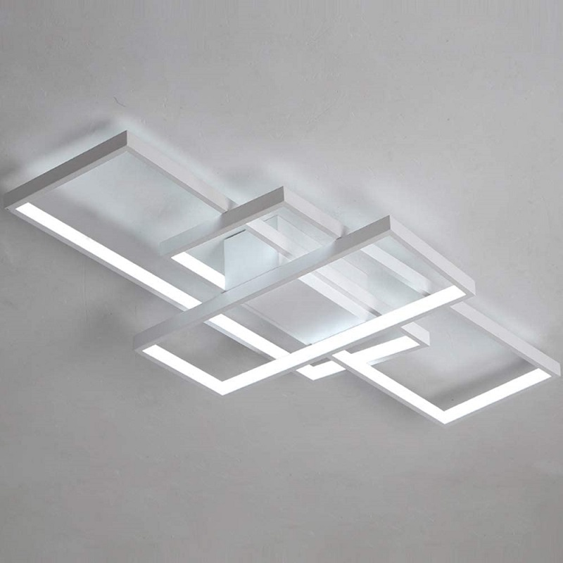 Gleam Rectangle Aluminum Modern Led ceiling lights for living room bedroom AC85-265V White/Black Ceiling Lamp Fixtures