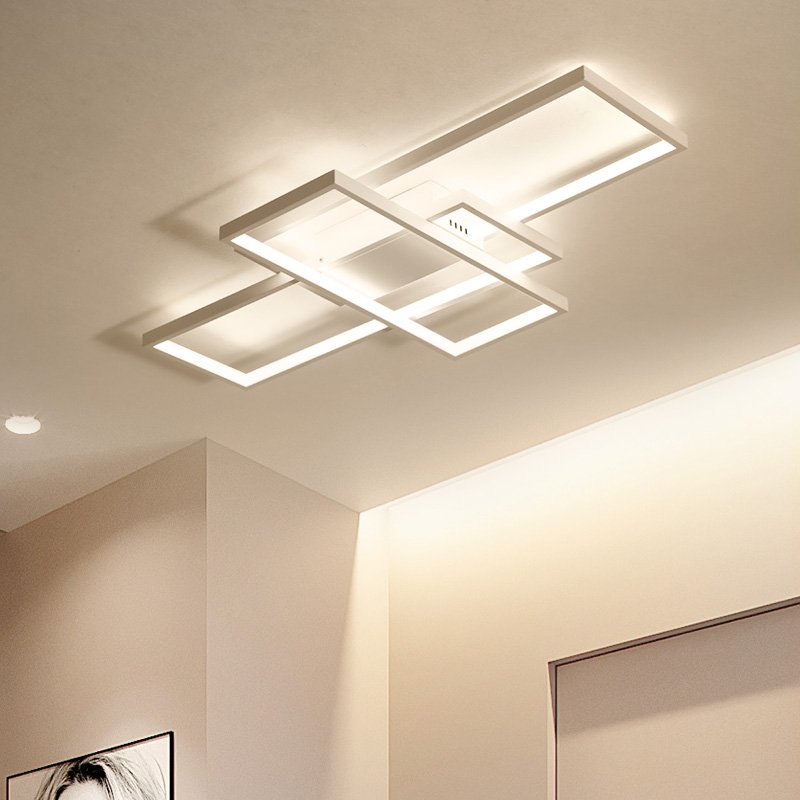 Square aluminum ceiling light