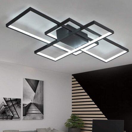 Square aluminum ceiling light  Modern Led ceiling lights for living room bedroom AC85-265V White/Black Ceiling Lamp Fixtures