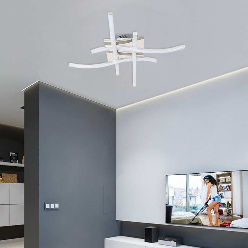 Aluminum four forks ceiling lamp