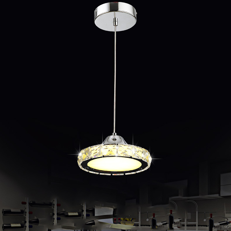 LED Single head Round Chandelier Dining Room Crystal Chandelier Living Room bar Chandelier