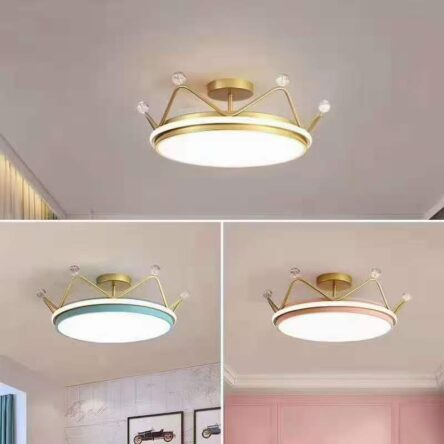 LED Pendant Lamp Crown Ceiling Lamp Modern Minimalist Bedroom Lamp Living Room Children's Room Lamp Dimmable