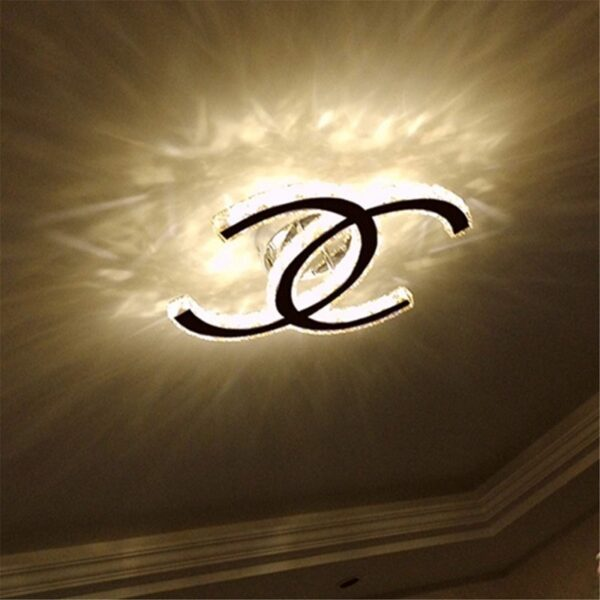 Double C crystal ceiling lamp