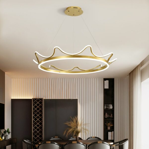 Crown Aluminum Chandelier