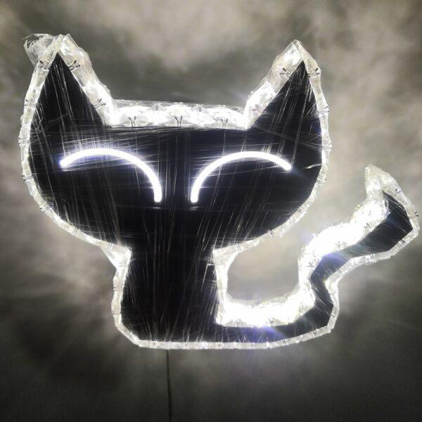 crystal cat shape wall lamp
