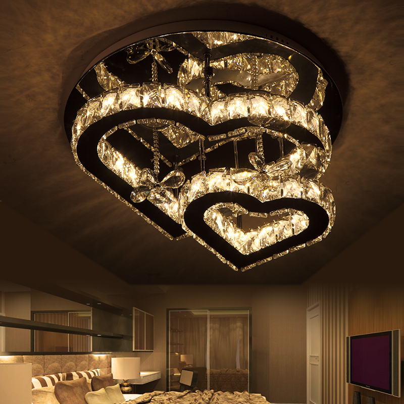 Heart-Shaped stainless steel Ceiling Lamp