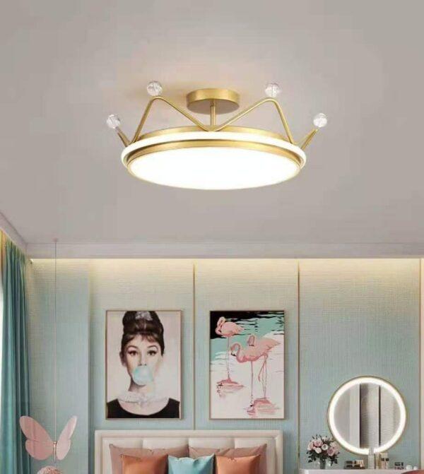 Crown aluminum ceiling lamp
